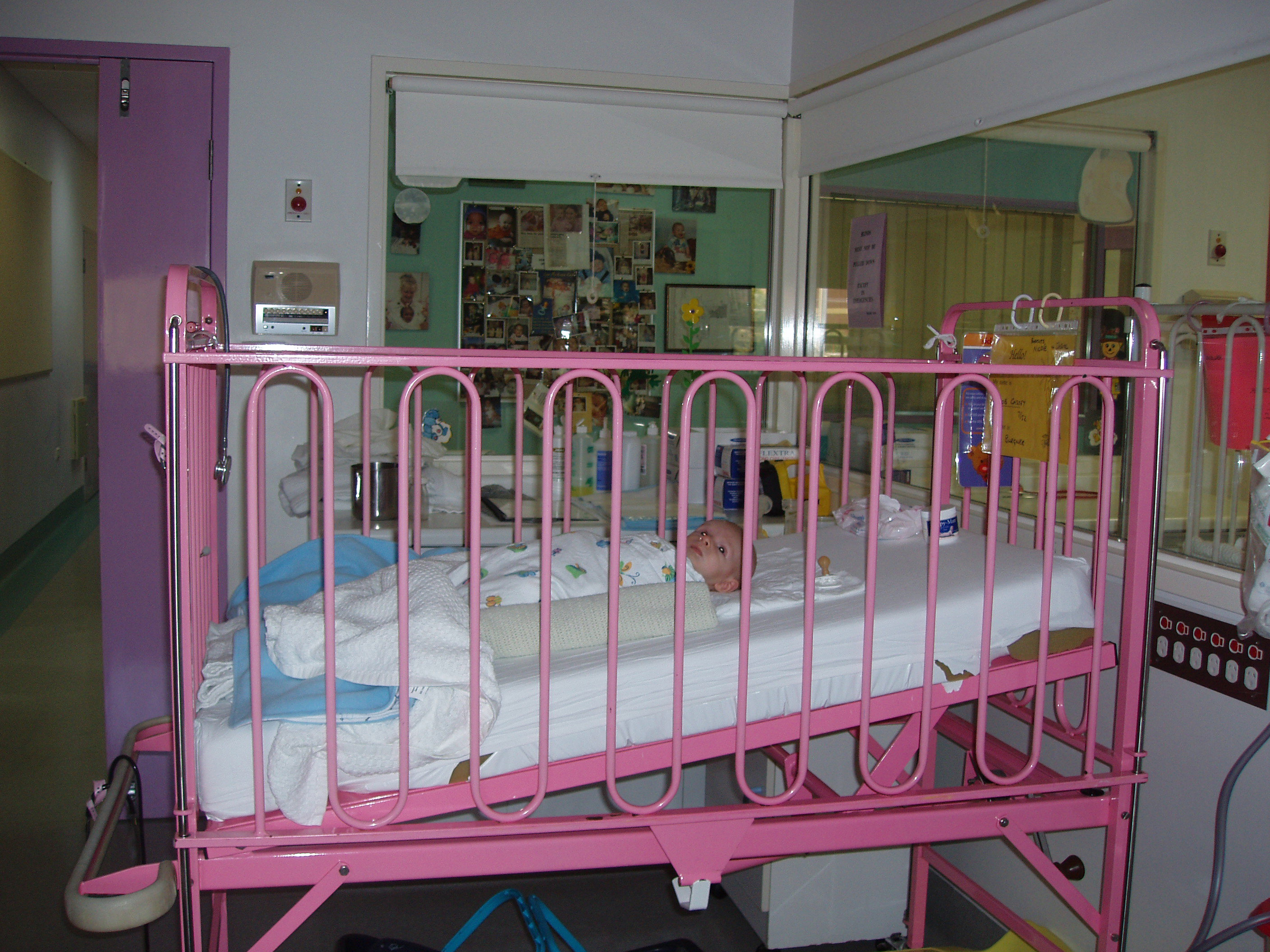 Included crib to lessen baby reflux.