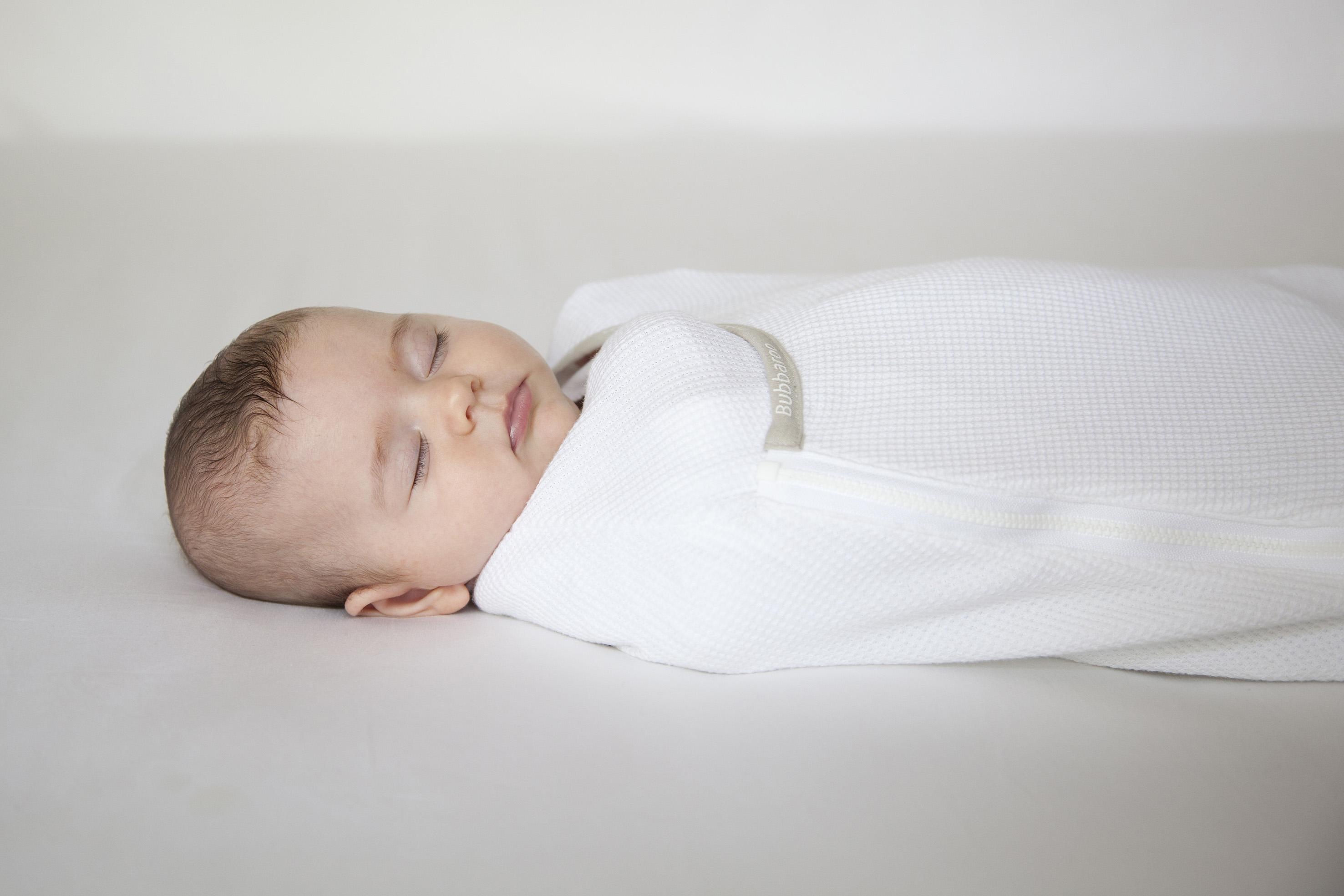 Baby sleeping in Bubbaroo Joey Pouch