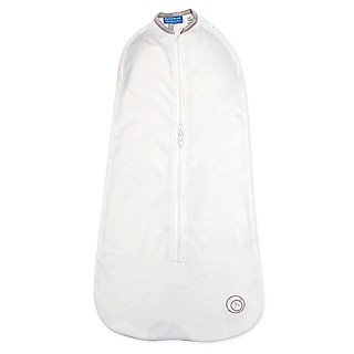 Joey Pod Transitional Swaddle Bag - White with Platinum