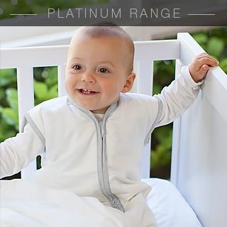 Platinum Joey Swag Baby Sleeping Bag White with Platinum