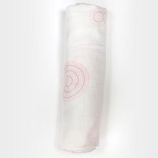 Muslin Pink Dot Single Rolled